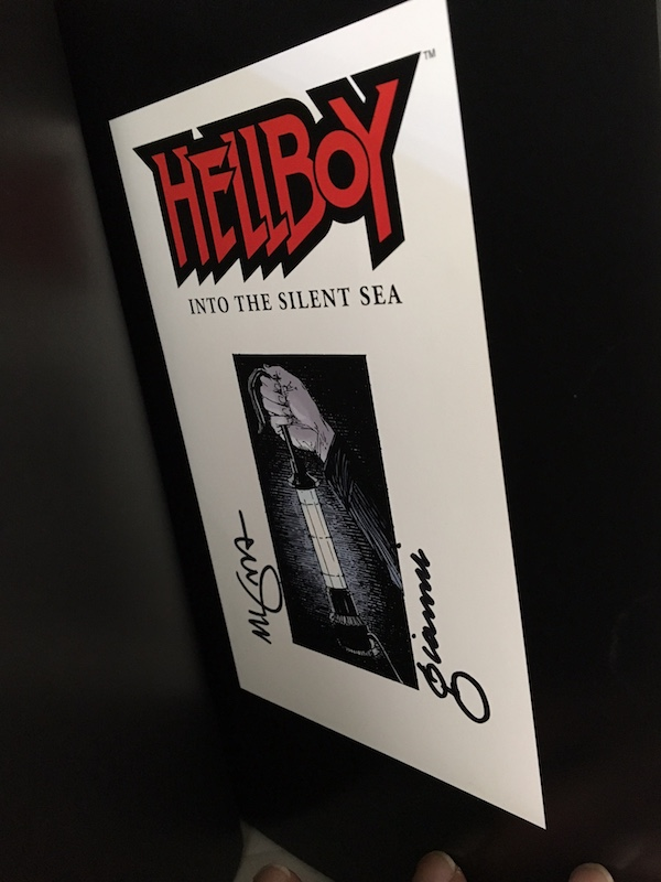 Image for MIKE MIGNOLA & GARY GIANNI: HELLBOY INTO THE SILENT SEA — SIGNED by both Artists!