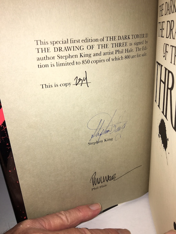 Image for STEPHEN KING—THE DARK TOWER:THE DRAWING OF THE THREE. 1987. SIGNED, Slipcased, limited to 850 copies!