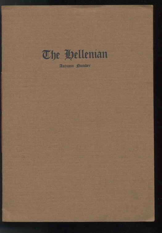 Image for THE HELLENIAN. [1918]