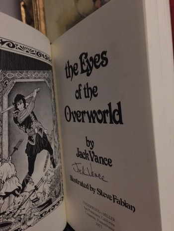 Image for JACK VANCE: THE EYES OF THE OVERWORLD—Underwood/Miller publishers, 1977.  Limited edition, SIGNED!
