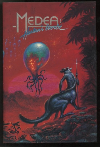 Image for HARLAN ELLISON: MEDEA:HARLAN'S WORLD—with PRECIS OF SPECIFICATIONS FOR AN IMAGINARY PLANET.  Phantasia Press & UCLA Extension, 1975/1985. First edition—SIGNED by 10, with rare, separate PRECIS booklet.