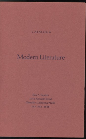 Image for CATALOG 6: Modern Literature