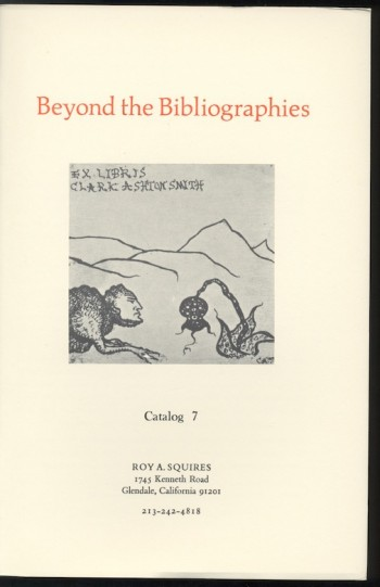 Image for CATALOG 7: Beyond the Bibliographies