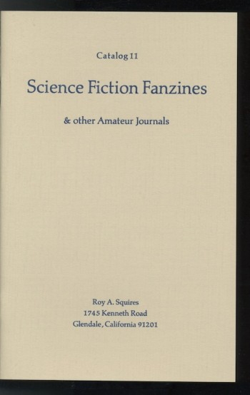 Image for CATALOG 11: SCIENCE FICTION FANZINES & other Amateur Journals