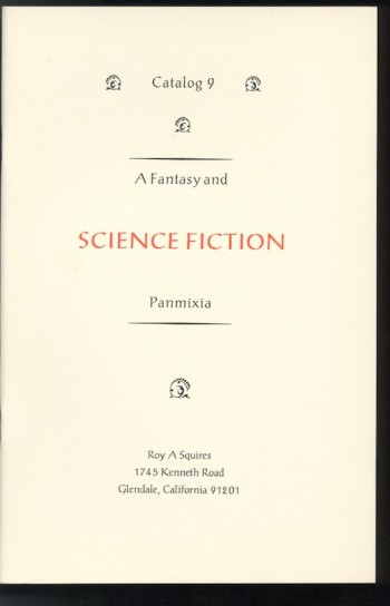 Image for CATALOG 9: A Fantasy and SCIENCE FICTION Panmixia