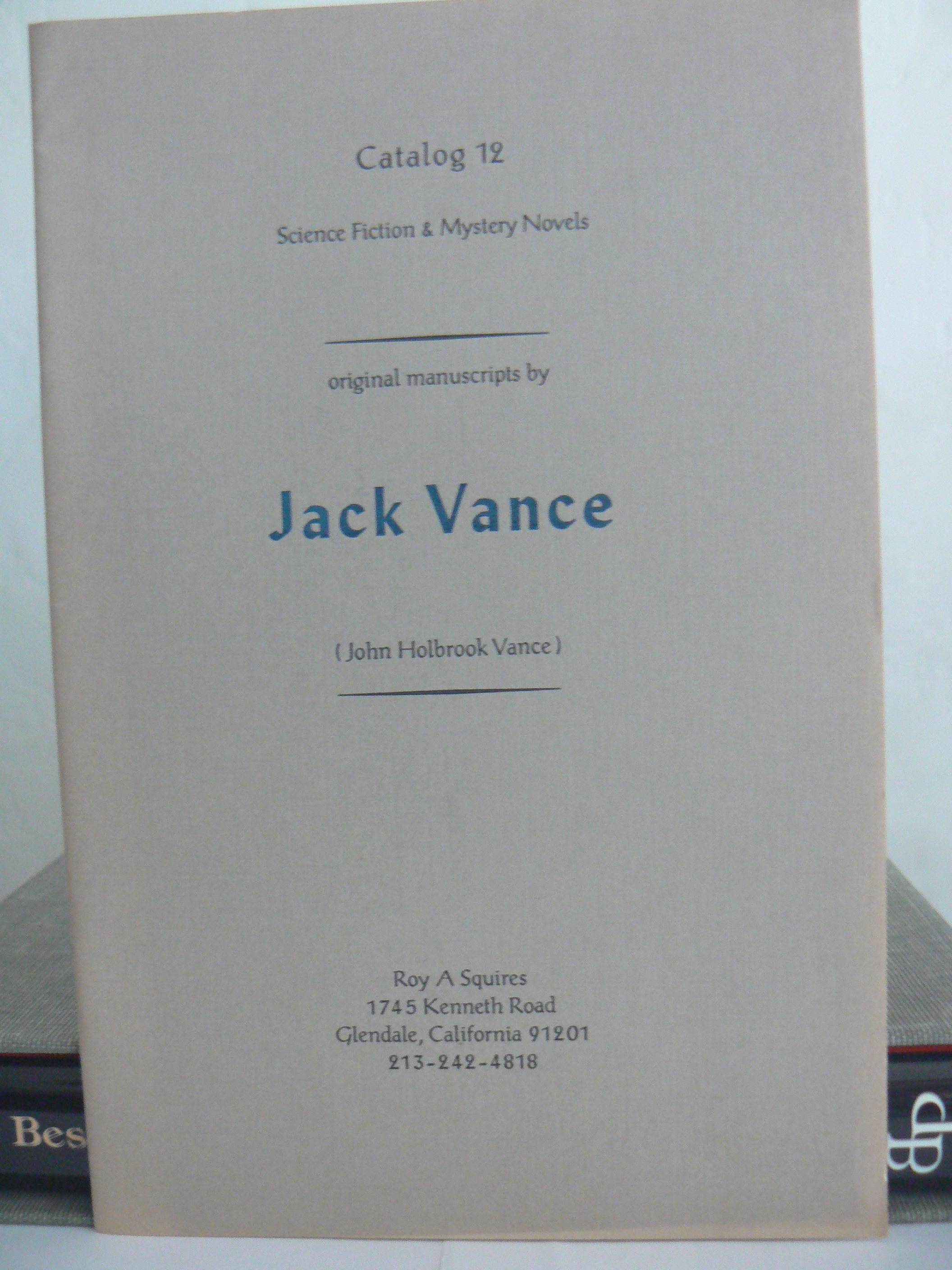 Image for CATALOG 12: Science Fiction & Mystery novels, original manuscripts by JACK VANCE