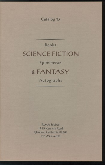 Image for CATALOG 13: SCIENCE FICTION & FANTASY, Books, Ephemerae, Autographs