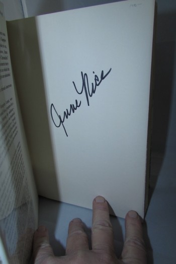 Image for ANNE RICE: QUEEN OF THE DAMNED.  Knopf, 1988. First edition—Signed by the author!