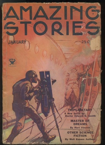 Image for TRIPLANETARY—COMPLETE! AMAZING STORIES. 1934, January, February, March, April.  E.E. (DOC) SMITH.