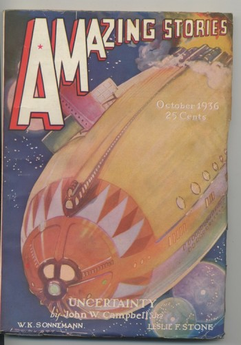 Image for AMAZING STORIES. 1936, November/December.  UNCERTAINTY—Complete!
