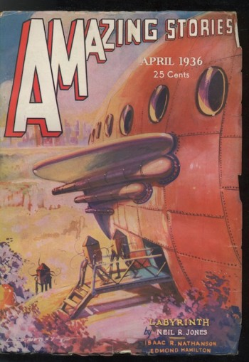 Image for AMAZING STORIES. 1936, April—A PROFESSOR JAMESON STORY.