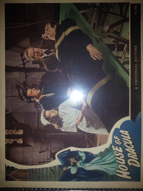 Image for ORIGINAL 1945 LOBBY CARD - HOUSE OF DRACULA IN PRISTINE CONDITION!