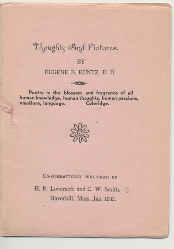 Image for  THOUGHTS AND PICTURES—Haverhill, Mass., 1932. 1st printing. Co-Published/Edited by H.P. Lovecraft.  