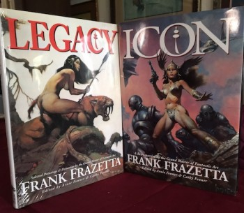 Image for ICON & LEGACY:2 X FRAZETTA.  Underwood Books, Grass Valley, CA., 1998.  First Edition.