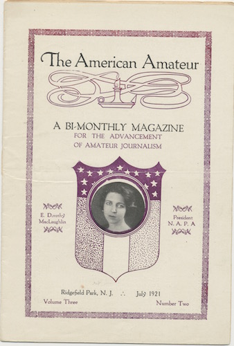 Image for AMERICAN AMATEUR..  July, 1921. No. 2.