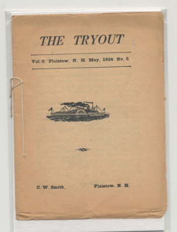Image for THE TRYOUT.  May, 1924. Vol. 9, No. 5.