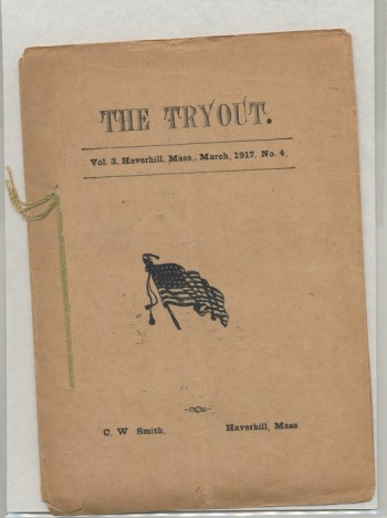 Image for THE TRYOUT.  Mar., 1917. Vol. 3, No. 4.