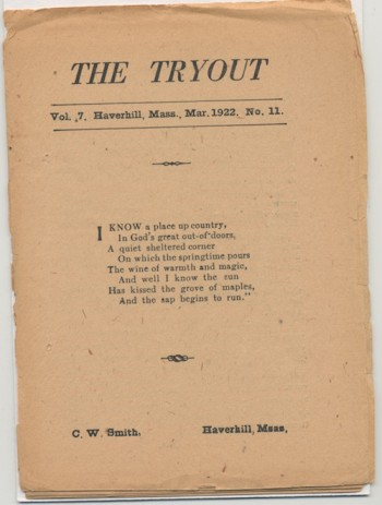 Image for THE TRYOUT.  Mar., 1922. Vol. 7, No. 11.
