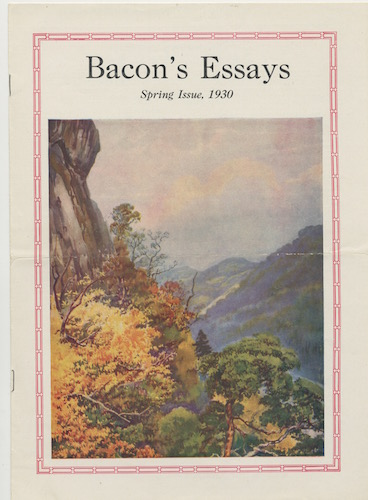 Image for BACON'S ESSAYS. Spring,1930. Vol. 3., No. 1.