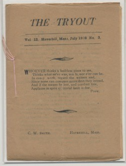Image for THE TRYOUT.  July, 1928. Vol. 12, No. 3.
