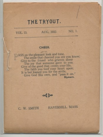 Image for THE TRYOUT.  Aug., 1932. Vol. 15., No. 1