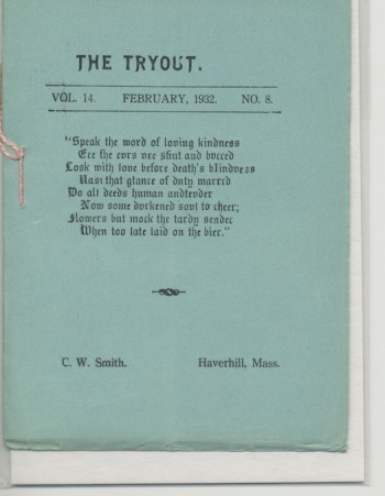Image for THE TRYOUT.  Feb., 1932. Vol. 14., No. 8.