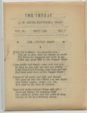 Image for THE TRYOUT.  Sept., 1936. Vol. 18., No. 1.