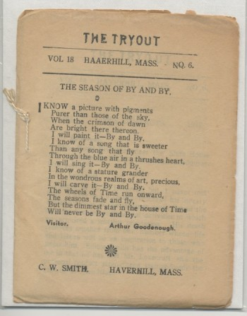 Image for THE TRYOUT.  [May]., 1937. Vol. 18., No. 6.