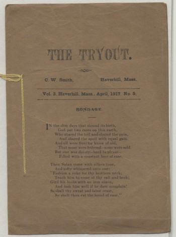 Image for THE TRYOUT.  Apr., 1917. Vol. 3., No. 5.