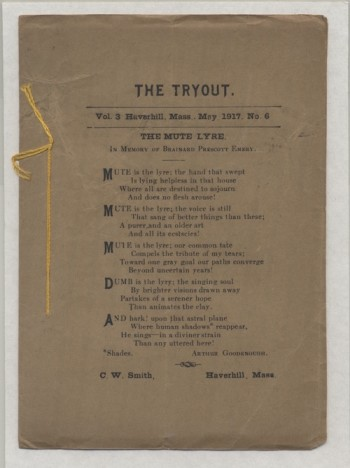 Image for THE TRYOUT.  May, 1917. Vol. 3., No. 6. 