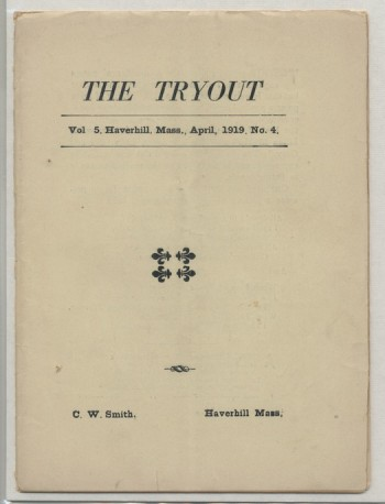 Image for THE TRYOUT.  April, 1919. Vol. 5., No. 4.