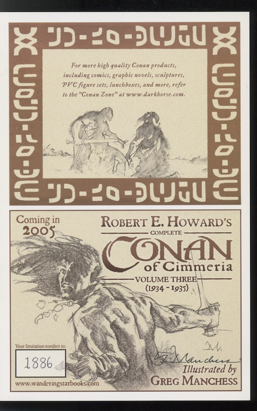 Image for THE COMPLETE CONAN OF CIMMERIA.  Volume II.  (1934).  Wandering Star, 2003.  [First edition thus].  Limited, slipcased, numbered, signed by the artist, Gary Gianni.