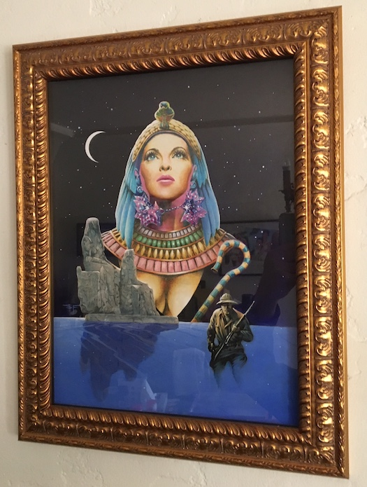 Image for Original Cover Painting for—I FOUND CLEOPATRA.  Fax Collectors Editions, West Linn, 1977.