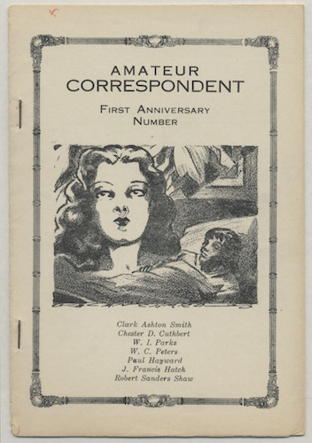 Image for AMATEUR CORRESPONDENT: First Anniversary Number.