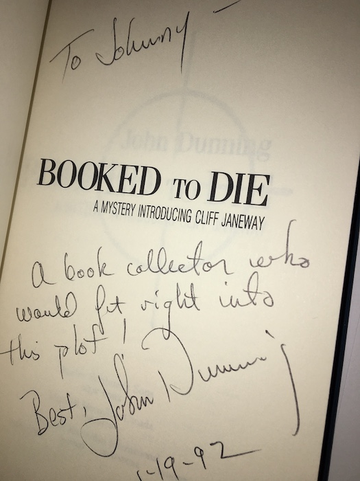 Image for BOOKED TO DIE. Scribners, N.Y., 1992. [First edition].  Signed, inscribed, month, year of publication.