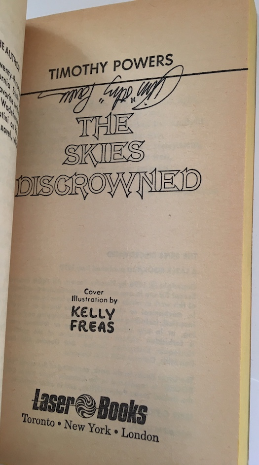 Image for THE SKIES DISCROWNED.  Laser Books, 1976.  Toronto. Author's first book, signed by author and cover artist, Frank Kelly Freas.