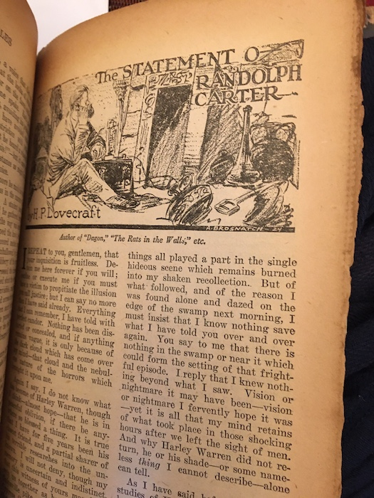 Image for WEIRD TALES. February, 1925.   THE STATEMENT OF RANDOLPH CARTER, by H.P. Lovecraft, makes its first appearance.   Also contains SEA CHANGE by Henry S. Whitehead, and SCARF OF THE BELOVED by Greye LaSpina.