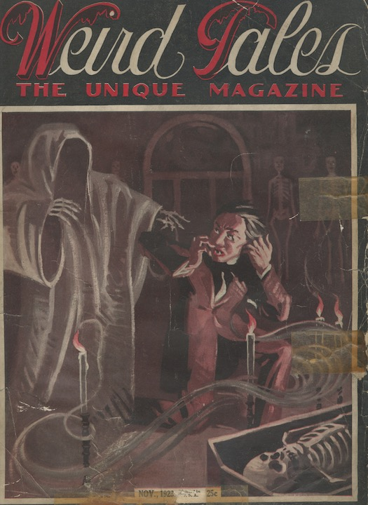 Image for WEIRD TALES. November, 1923.  Contains the story—THE INVISIBLE MONSTER— by Sonia Greene, ghost-written by H.P. Lovecraft.  These very very first issues are rare in any condition.