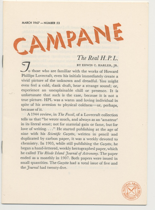 Image for CAMPANE. Mar., 1967. No. 53.