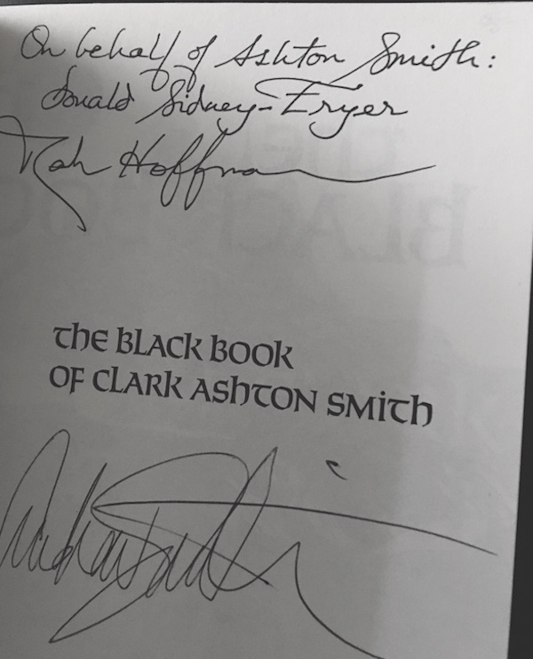 Image for THE BLACK BOOK.  Arkham House, Sauk City, 1979. Signed by three.