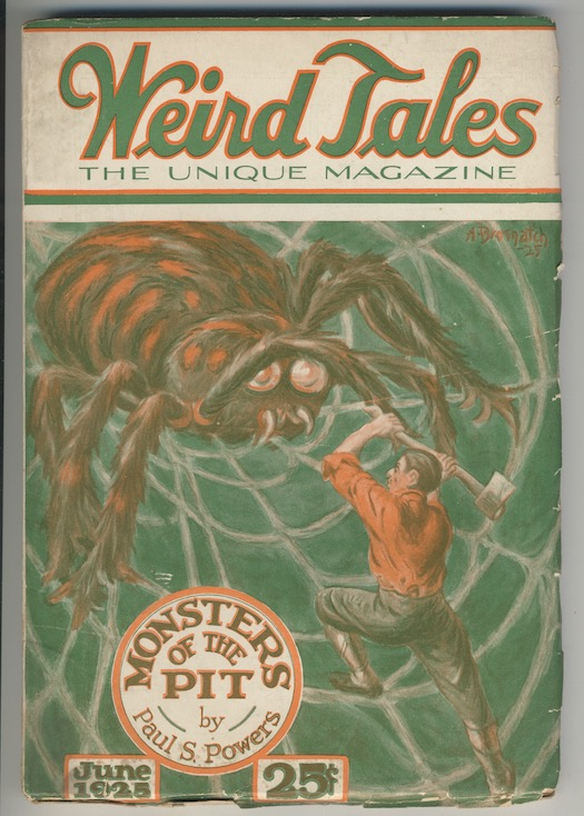 Image for WEIRD TALES. June, 1925.  THE DEVIL-GOD, by Frank Belknap Long. A fine copy.