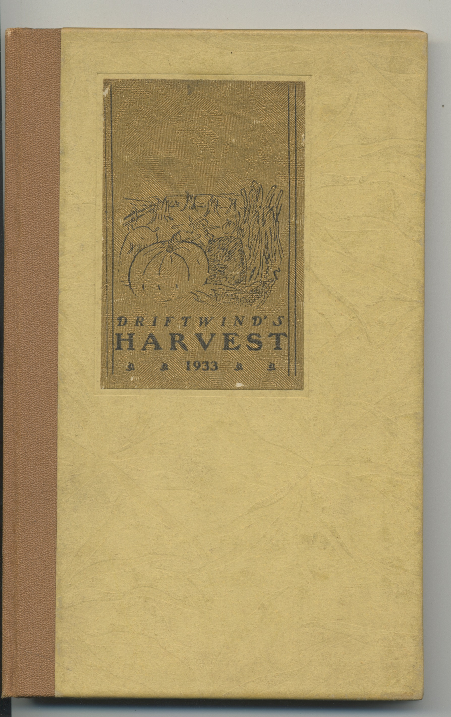 Image for (The Canal) HARVEST: A Sheaf of Poems from Driftwind.  1933 hardbound appearance of HPL's poem, THE CANAL from his FUNGI FROM YUGGOTH.