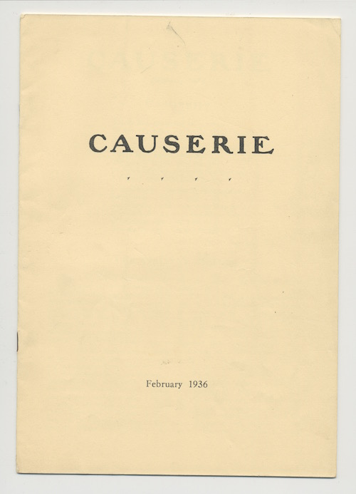 Image for CAUSERIE. February, 1936.