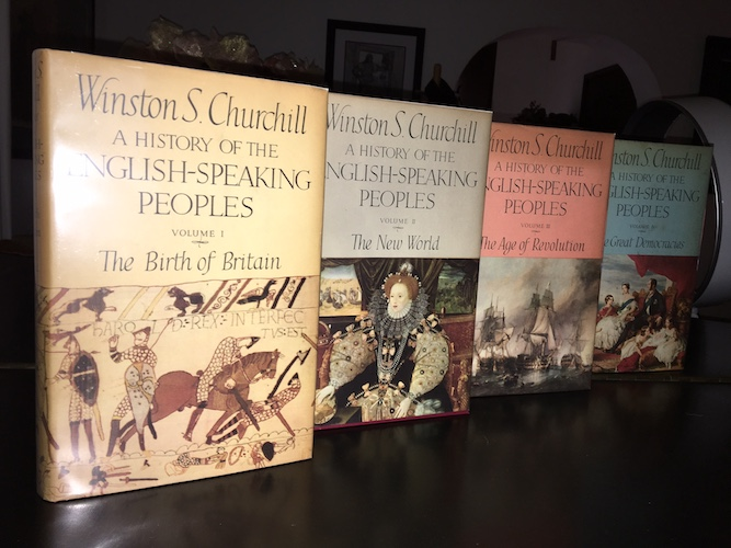 Image for SIR WINSTON CHURCHILL—A HISTORY OF THE ENGLISH-SPEAKING PEOPLES: (4 VOLS. COMPLETE)The Birth of Britain, The New World, The Age of Revolution, The Great Democracies.