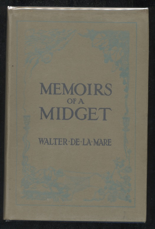 Image for WALTER DE LA MARE: MEMOIRS OF A MIDGET—Collins, London,1921. First edition.  Nice copy in d.j!