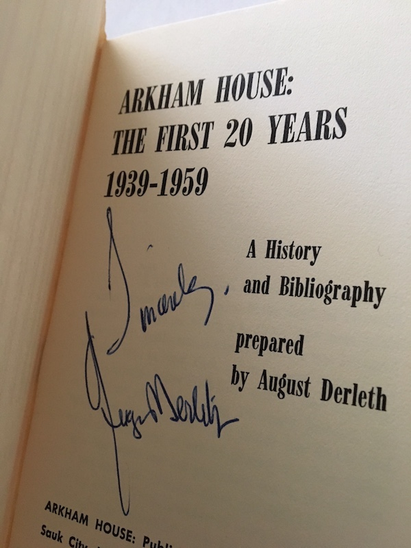 Image for ARKHAM HOUSE:The First 20 Years 1939-1959—SIGNED