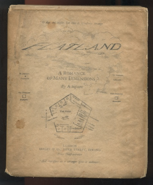 Image for FLATLAND: A Romance of Many Dimensions. By [EDWIN ABBOT ABBOT]. First edition 1884. Classic early SF.  A scarce book.
