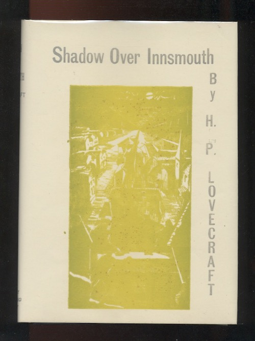 Image for H.P. LOVECRAFT: THE SHADOW OVER INNSMOUTH, 1936. The author's first published book!  FIRST EDITION IN UTPATEL D.J., AND ERRATA, AND GRAY PARROT TRAYCASE.