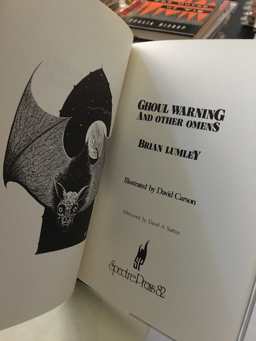 Image for BRIAN LUMLEY: GHOUL WARNING. Only 80 SIGNED, hardcover copies of this scarce poetry book!