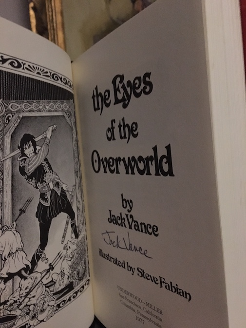 Image for THE EYES OF THE OVERWORLD.  Underwood/Miller, 1977.  First limited edition.  Signed by the author.